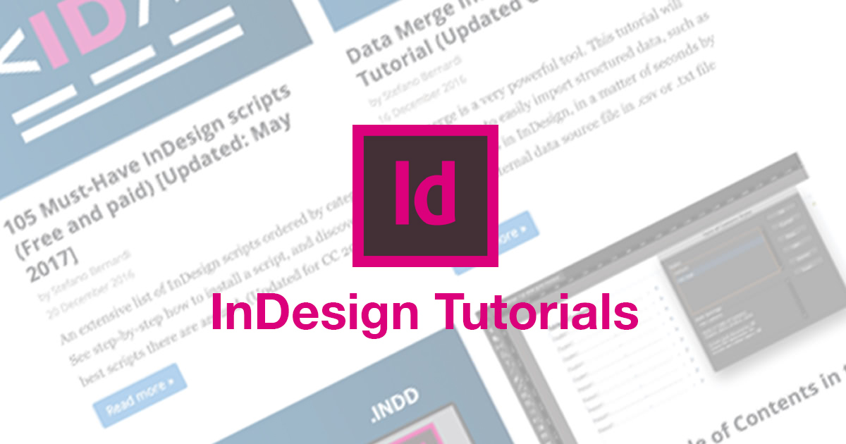35 InDesign tutorials to dramatically improve your skills (Updated 2019)