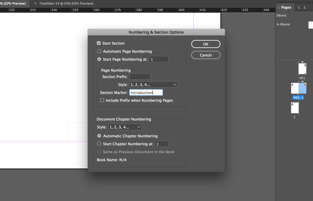 Edit Section Marker