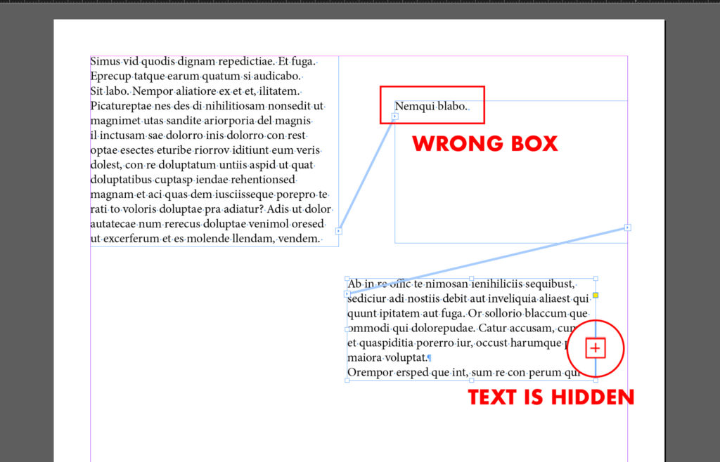 Text that overflow the box