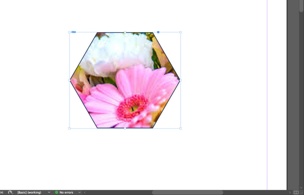 Results of clipping mask in InDesign