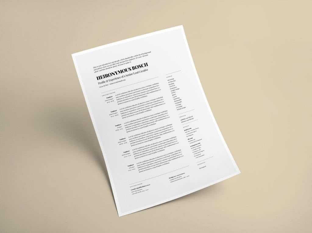 Elegant InDesign Resume Template Preview
