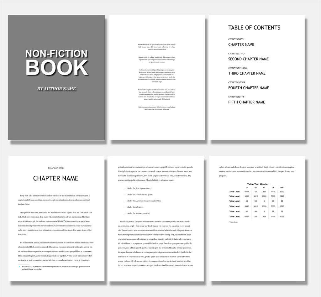Simple ePub InDesign Template Preview