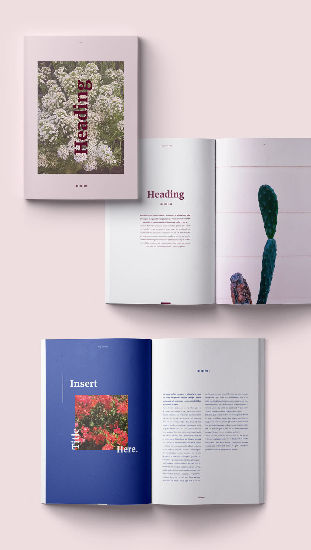 Sophisticated Magazine InDesign Template Preview