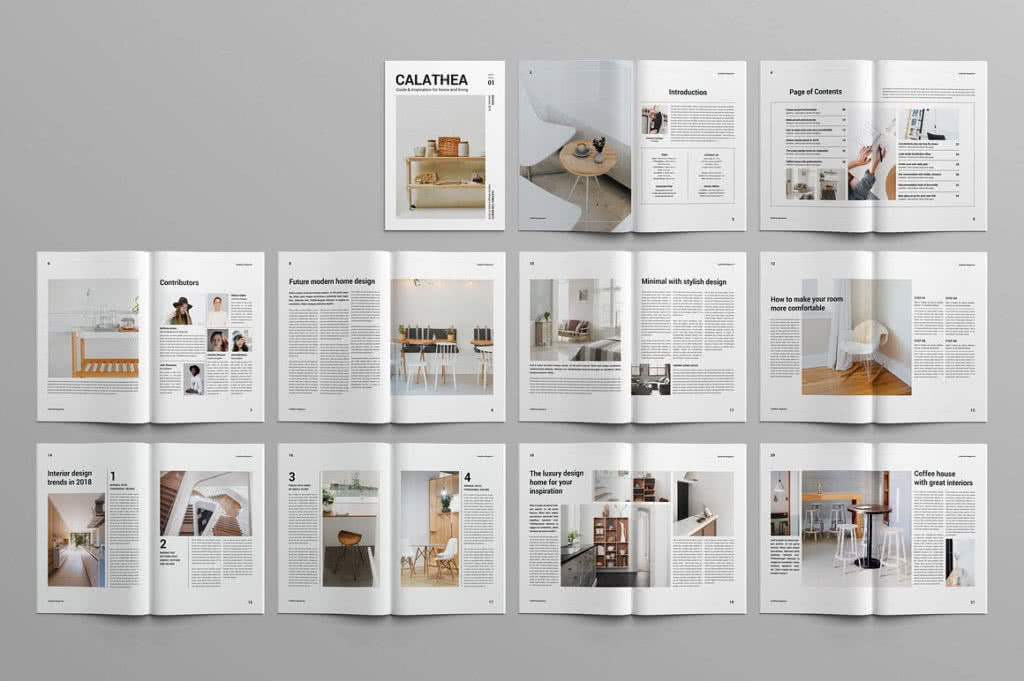 Contemporary Magazine InDesign Template Preview