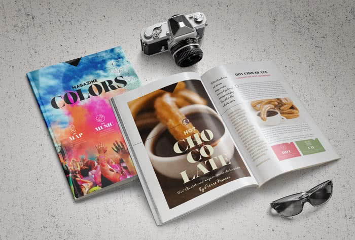 Modern Magazine InDesign Template Preview