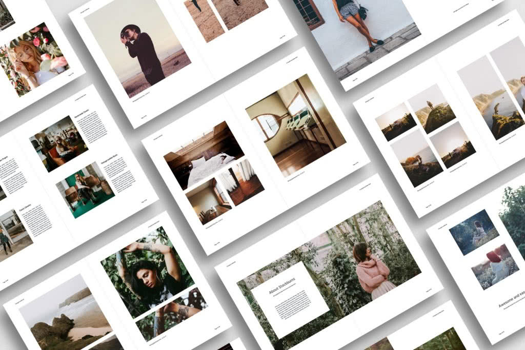Photography Portfolio InDesign Template Preview