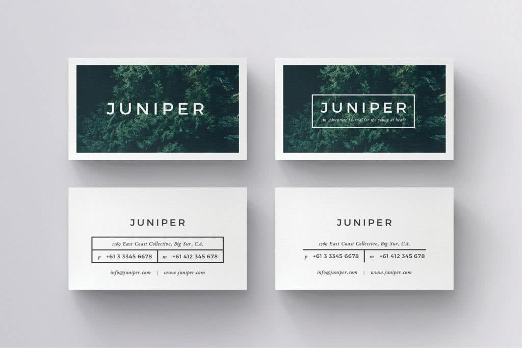 Business Card for Local Business InDesign Template Preview