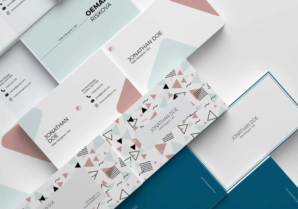 Business Card for Professionals InDesign Template Preview