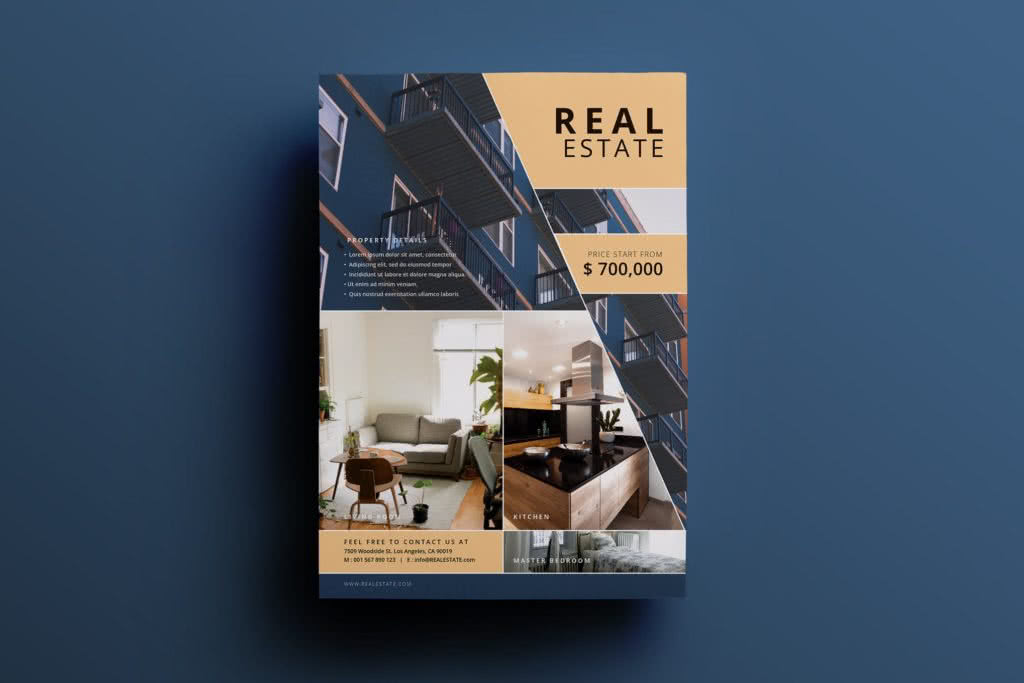 High-End Real Estate Flyer InDesign Template Preview