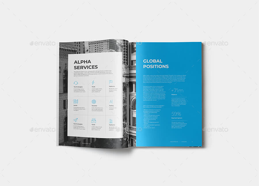 Modern Report InDesign Template Preview