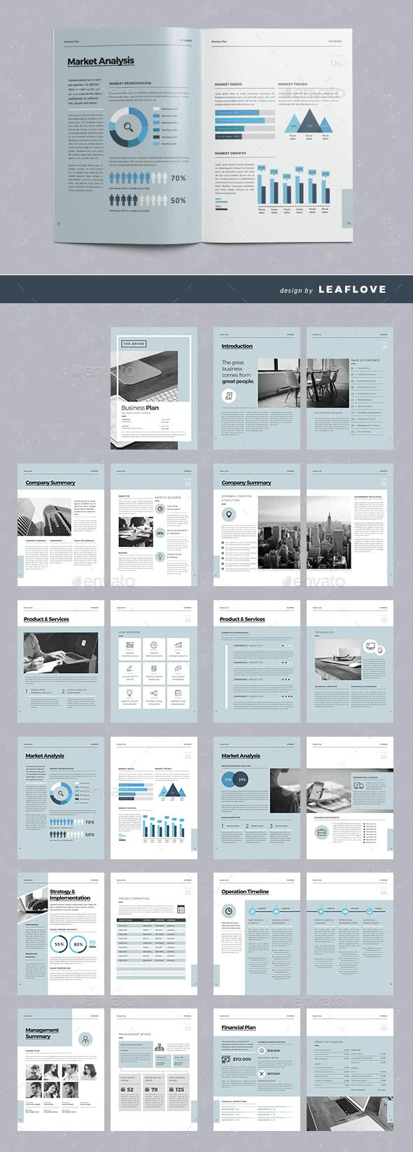Data Driven Report InDesign Template Preview