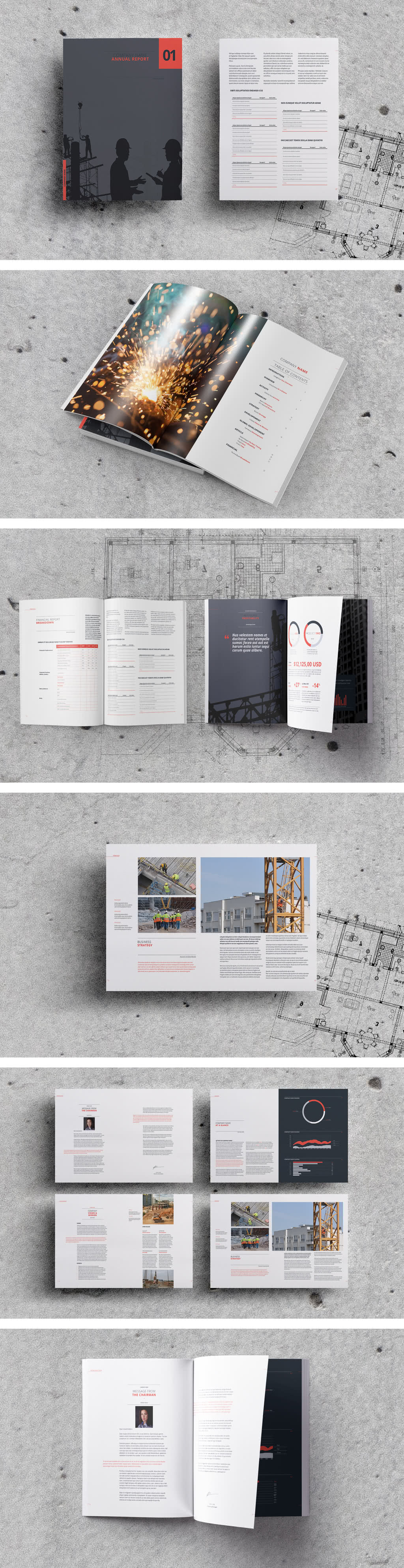 Clean and Elegant Report InDesign Template Preview