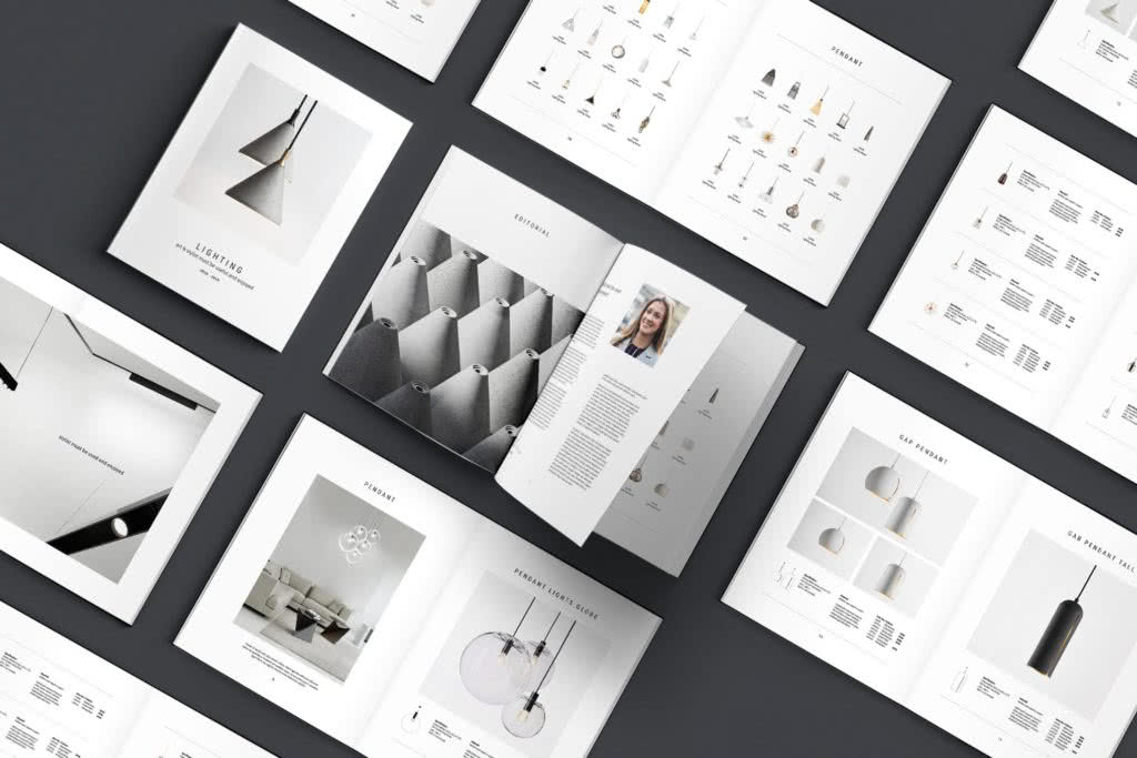 Elegant InDesign Catalog Templates Preview