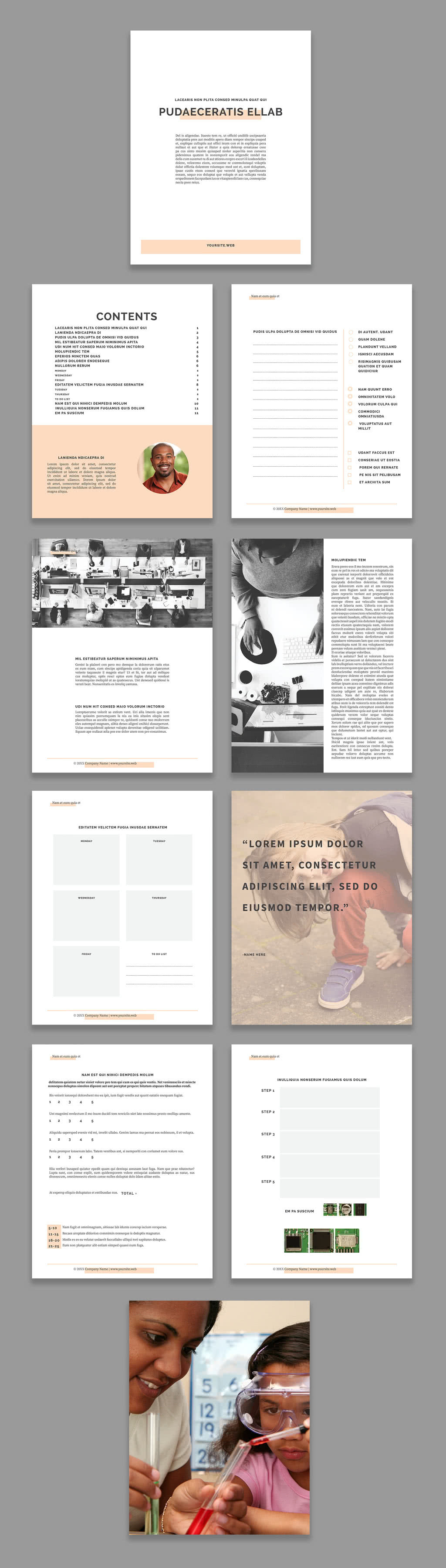 InDesign Workbook Template Preview
