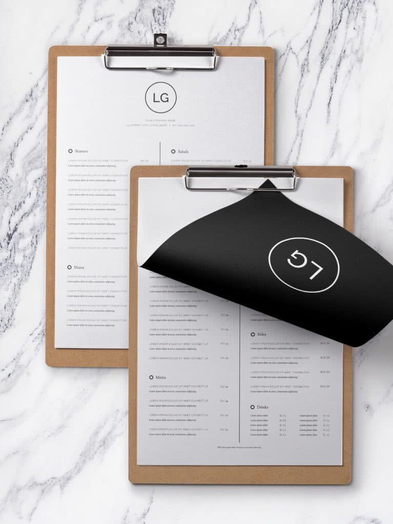 InDesign Restaurant Menu Template Preview