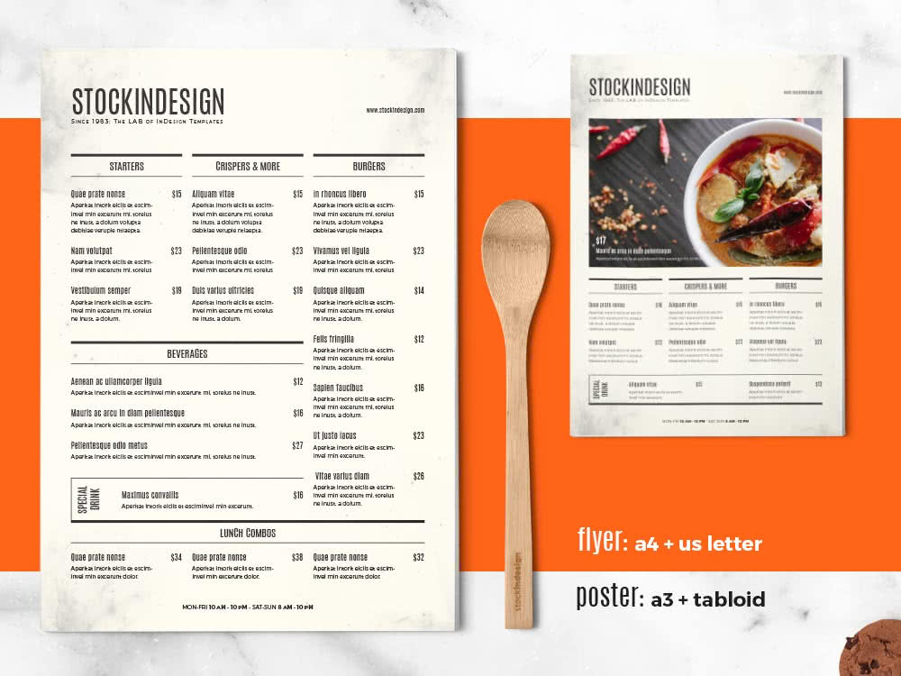 InDesign Restaurant Menu Template