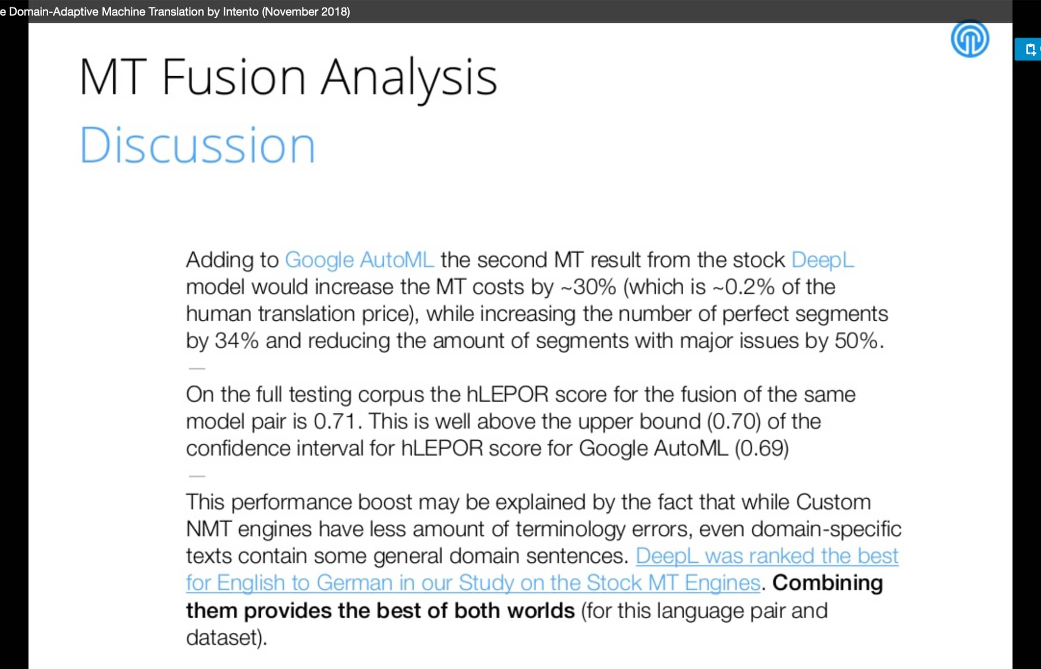 MT Fusion Analysis: Result