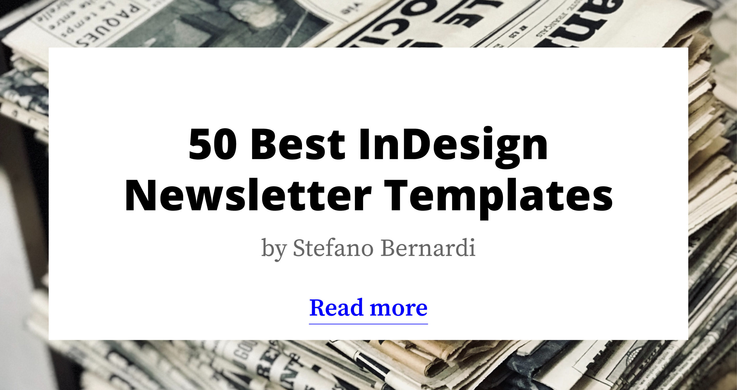 50 Modern InDesign Newsletter Templates