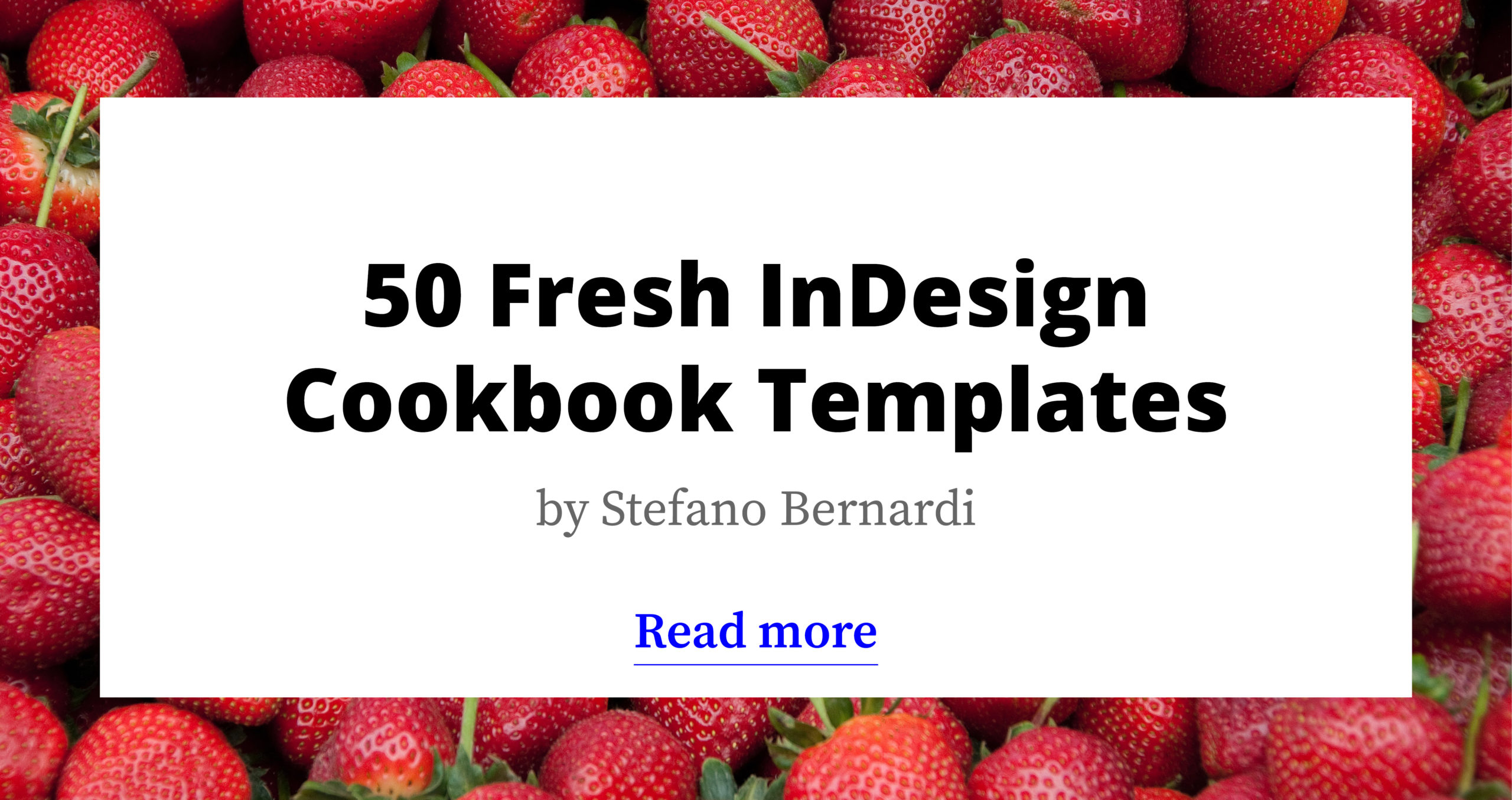 50 Versatile InDesign Cookbook Templates