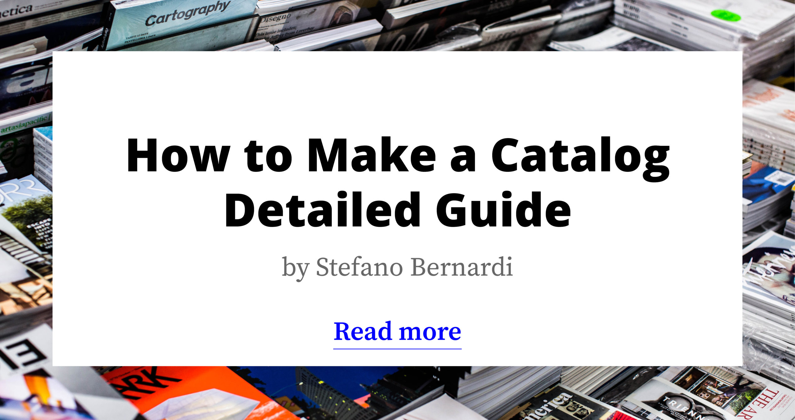How to Make a Catalog - Detailed Guide