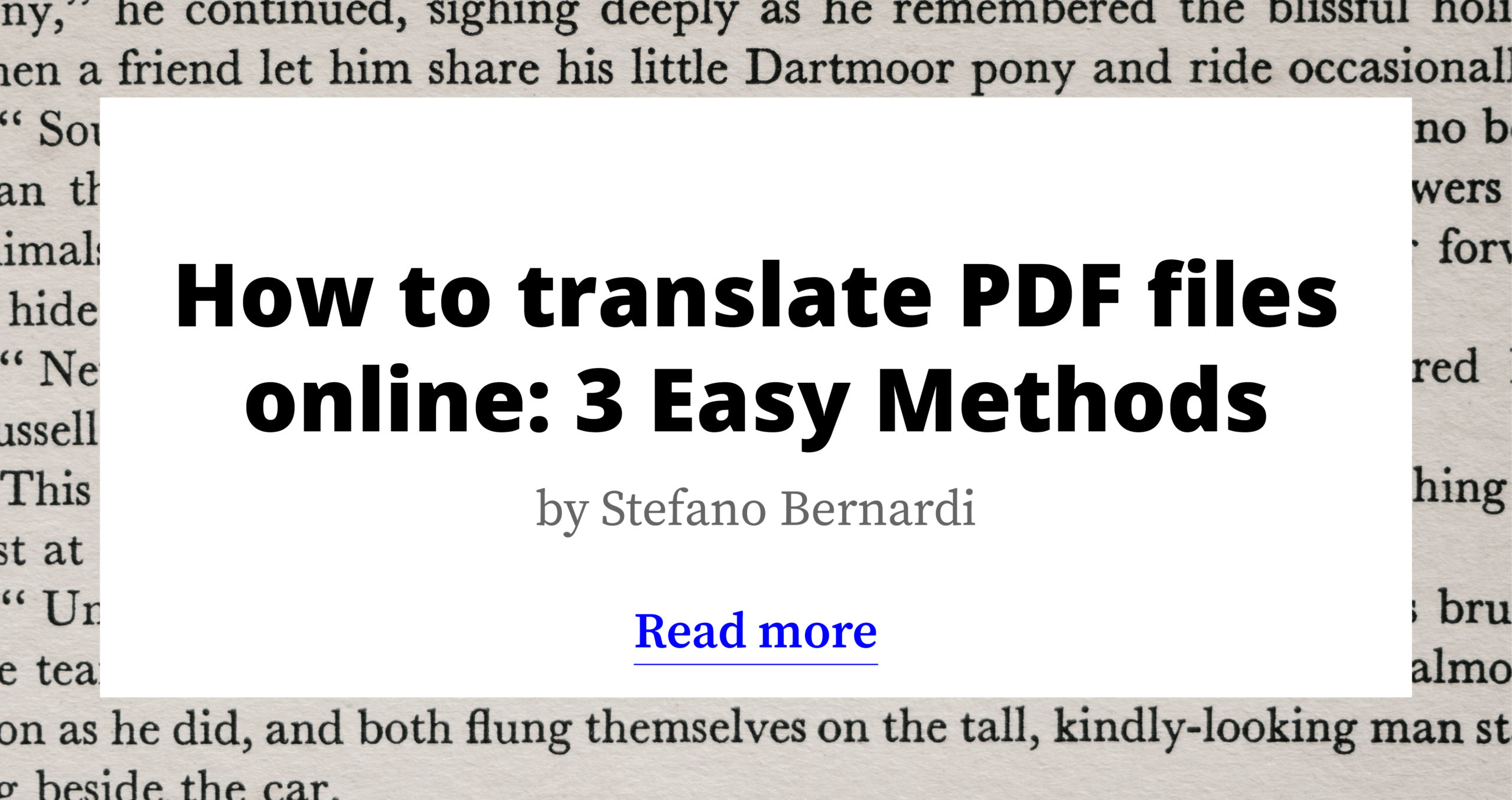 How to Translate PDF Files Online: 3 Easy Methods