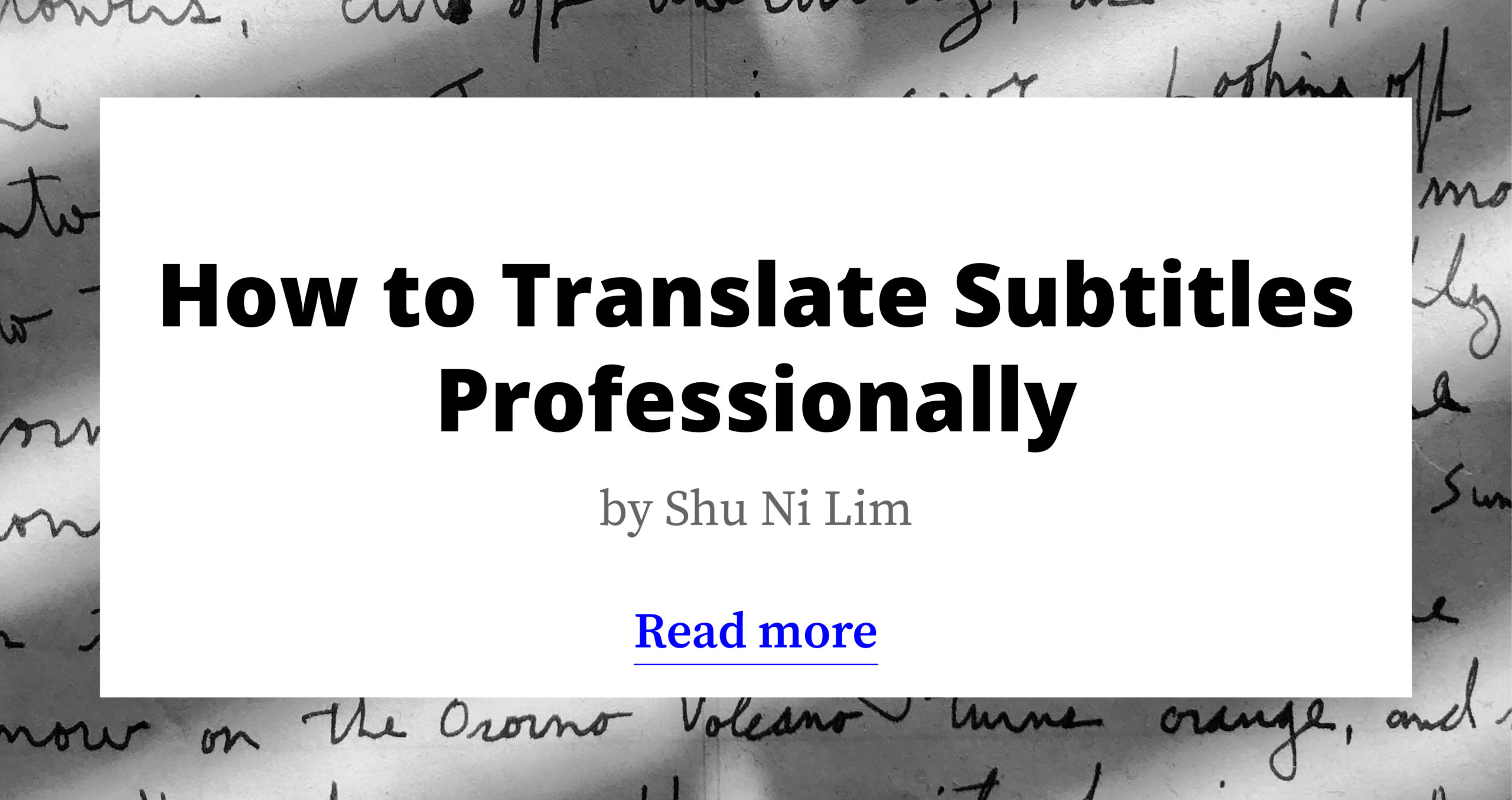 How to Translate Subtitles Professionally