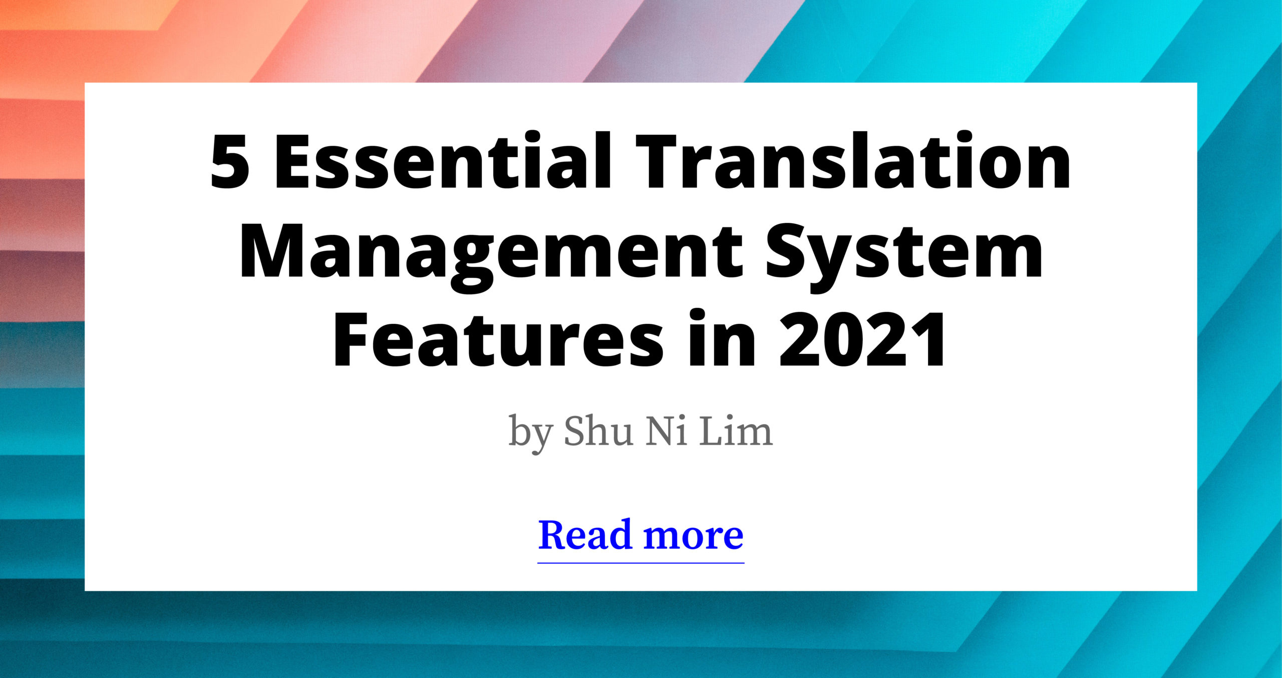 5 Essential Translation Management System Features (2021)