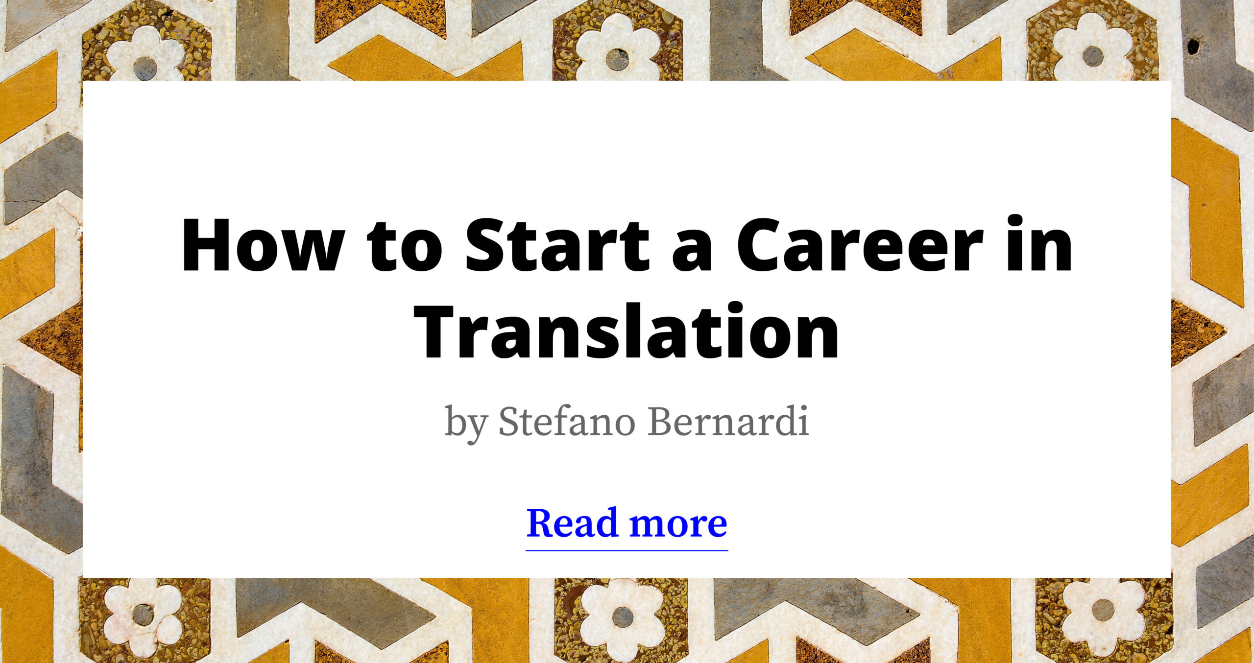 How to start a career in translation?
